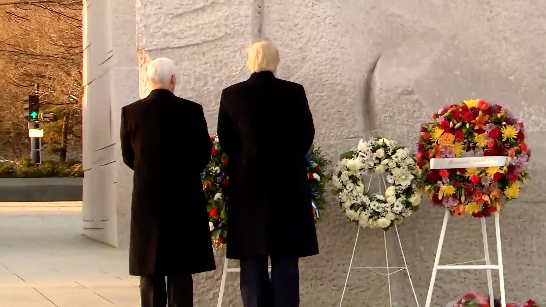 WATCH: President Trump and VP Pence visit Martin Luther King Jr. Memorial on MLK Day