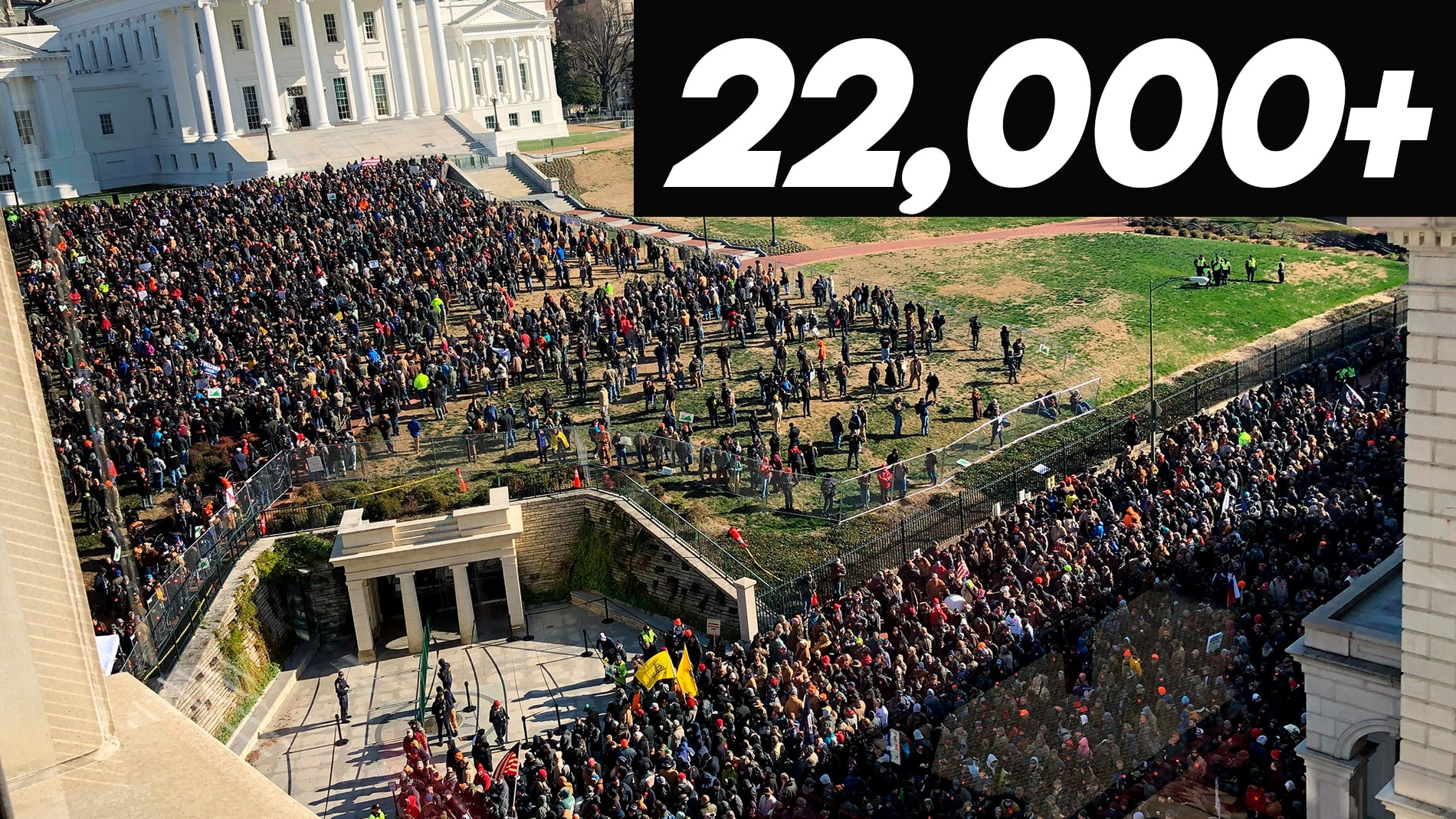 OFFICIAL NUMBERS: 22k+ Virginians rallied to support the Second Amendment, 1 arrest