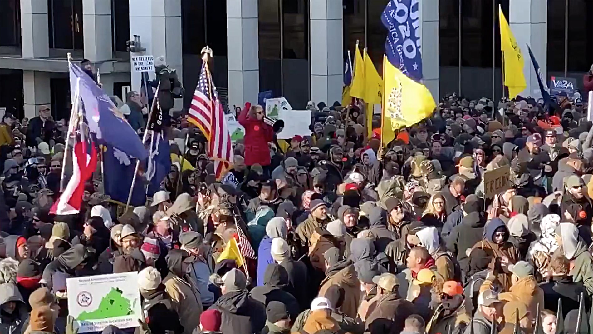 Reporter says VA gun advocates chanted 'we will not comply' in video reciting Pledge of Allegiance