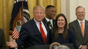 President Trump gives glowing endorsement to Sarah Huckabee Sanders for Arkansas governor